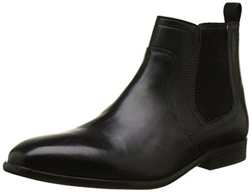 Base London Herren Floyd Chelsea Boots Noir (Black Waxy)