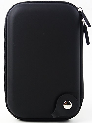 for Small Electronics Accessories Travel Zipper Organizer Cable Bag Waterproof Shockproof Carrying Case USB, Phone,GPS, Powerbank Charger Hard Shell Pouch Portable Universal (Black)