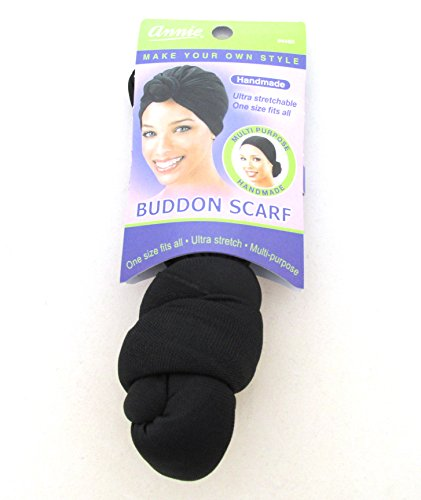 Annie Pre-Made Buddon Scarf, Black (Annie Scarf)