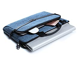 FYY Functional Series Canvas Sleeve Bag with Practical Pockets for Surface Book / Surface Book i7 - A-Navy