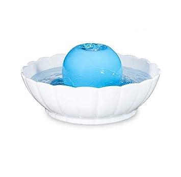 GLMAMK Dispensador de Agua de cerámica para Mascotas, alimentador de Agua eléctrico de circulación automática, Fuente de Agua de Fuente (Color : Azul): ...