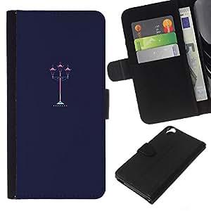 All Phone Most Case / Oferta Especial Cáscara Funda de cuero Monedero Cubierta de proteccion Caso / Wallet Case for HTC Desire 820 // Street Lamp Light Romantic