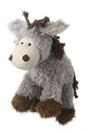 Multipet's Mane Event 11-Inch Donkey Plush Dog Toy by Multi Pet
