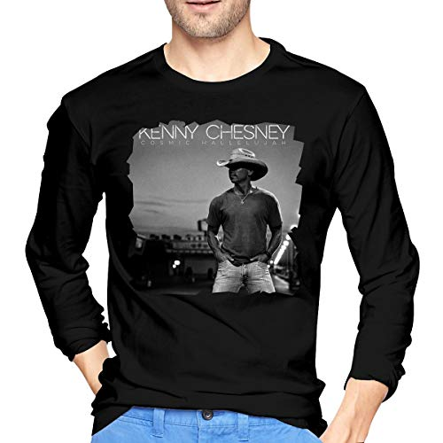 MarshallD Men's Kenny Chesney Cosmic Hallelujah Cotton Long Sleeve T Shirt Black S ()