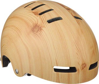 Lazer Street Deluxe Helmet: Light Wood Grain SM