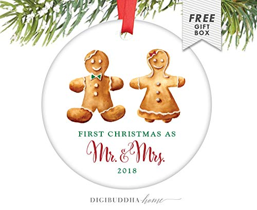 (Cheyan Married Wedding Ornament Christmas, Just Married Ornament Just Married Wedding Ornament, First Christmas As Mr and Mrs Christmas Ornament)