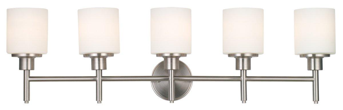 Design House 556225 Aubrey 5 Light Vanity Light, Satin Nickel