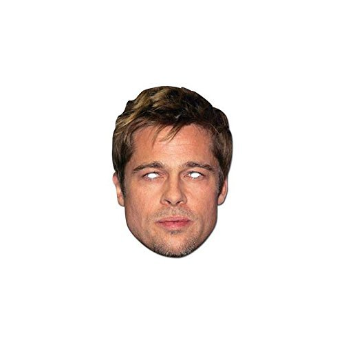 Parties And Prezzies Brad Pitt Celebrity Cardboard Mask - Single Celebrity Single