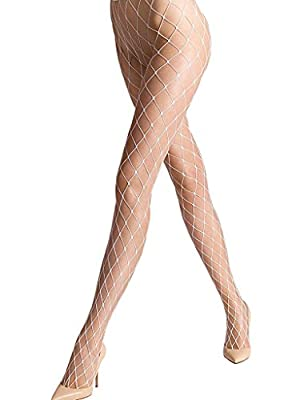 YPS Sexy Big Cross Fishnet Tights Seamless Nylon Large Mesh Stockings Hollow Out Pantyhose