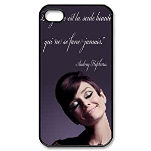 Customized Dual-Protective Case for Iphone 4,4S, Audrey Hepburn Quotes Cover Case - HL-539201