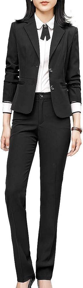 Women's Formal Two Piece Office Lady Business Suit Set Slim Women Suits for Work Blazer Jacket Pantsuits