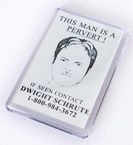 The Office (This Man is a Pervert) Fridge Magnet Unofficially Original