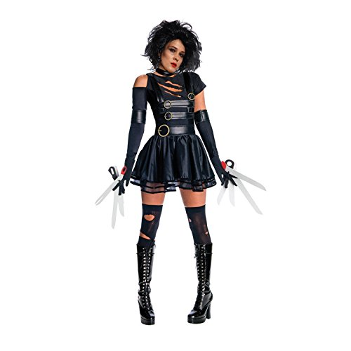 [Womens Adult Miss Edward Scissorhands Halloween Fancy Dress Costume Outfit] (Edward Scissorhands Womens Halloween Costume)