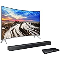 Samsung Electronics UN55MU8500 Curved 55-Inch 4K Ultra HD Smart LED TV  with Sound+ 7 Series Soundbar