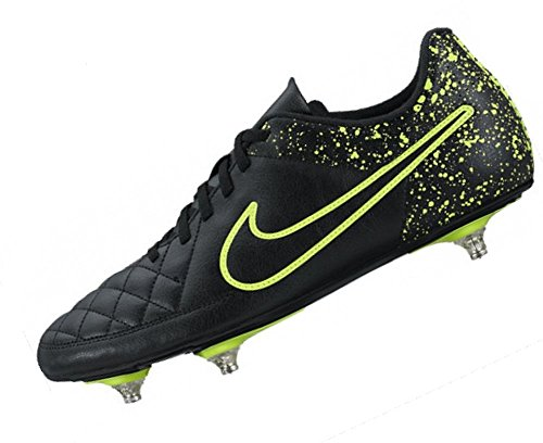 Nike Tiempo Rio Ii Sg, Botas de Fútbol para Hombre Negro / Negro / Verde (Black / Black-Volt)