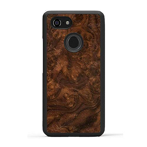 Carved | Google Pixel 3 | Luxury Protective Traveler Case | Unique Real Wooden Phone Cover | Rubber Bumper | Walnut Burl