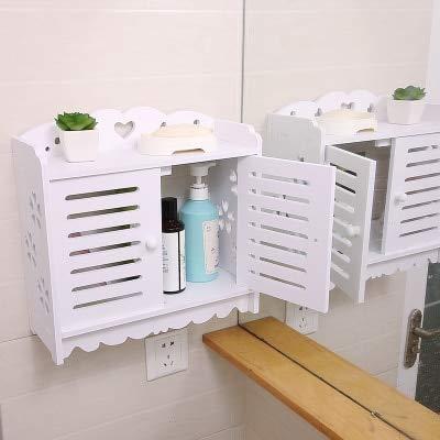 浴室 カウンター ラック 棚化粧品 フレーム 収納棚 プラスチック 防 -6 [並行輸入品] B07SJ1MMQH