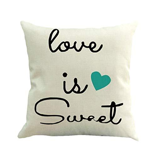 VECDUO Clearance Sale! Valentine's Day Print Pillow Case Flax Sofa Car Cushion Cover Home Decor, 18x18 -