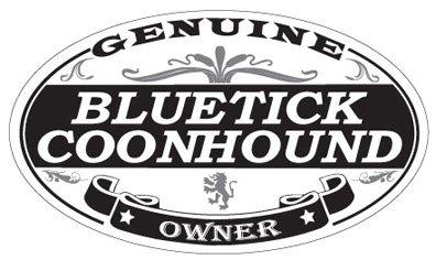 Bluetick Coonhound Oval Sticker