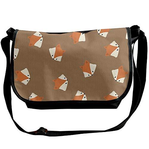 Satchel Fox Sling Bag Mens Black Handbag Pattern Cartoon Bag Fashion Casual npxtxP