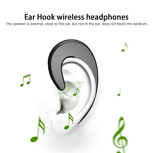 Wireless Bluetooth Earbud Sport Earphone Invisible Single Ear-Hook Bluetooth Headset Earpiece with Mic Noise Cancelling 6-Hour Play Time Business Headphone for Smartphone by AUDIIOO (Image #1)