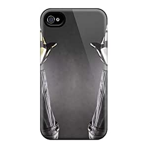 Marycase88 Iphone 4/4s Shock-Absorbing Hard Phone Covers Unique Design Colorful Daft Punk Band Pictures [SlZ4302bpVB]