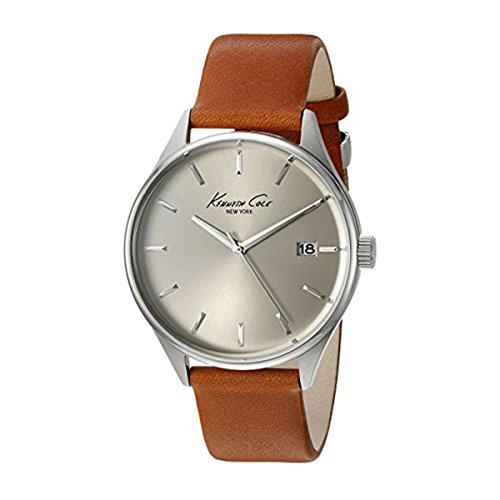 - Kenneth Cole New York Men's 'Classic' Quartz Stainless Steel and Brown Leather Dress Watch (Model: 10029307)