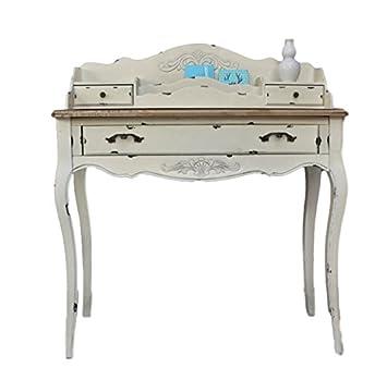 elbmobel konsole sekretar weiss braun antik landhaus luxus beige massiv holz tisch