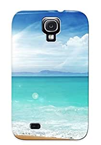 New Arrival Case Cover With SIXhupT5735mAdKX Design For Galaxy S4- Beach Blue