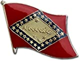Wholesale Pack of 50 State of Arkansas AR Flag Bike Hat Cap lapel Pin BEST material PREMIUM Vivid Color and UV Fade Resistant