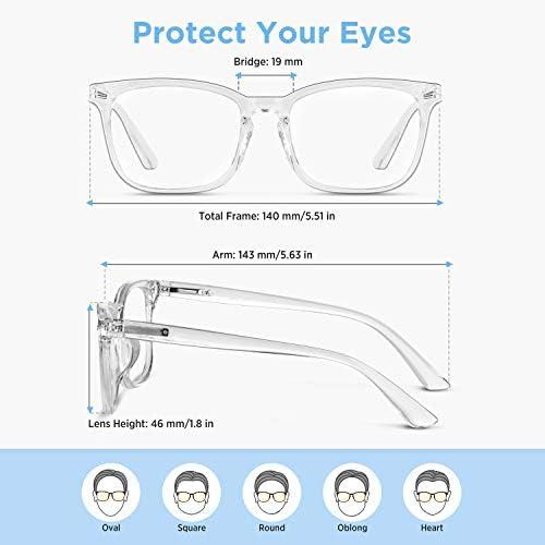 4 Pack SIPU Blue Light Blocking Glasses Fashion Square Nerd Eyeglasses for Women Men Anti Blue Ray Computer Game Glasses Non Prescription