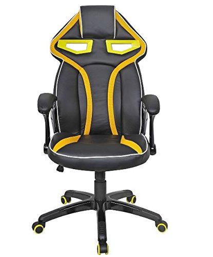 41pe aVbhxL - KA-Company-Chair-Style-High-Back-Gaming-Racing-Ergonomic-Office-Leather-Pu-Swivel-Computer-Executive-360-Degree-5-Wheels-Mesh-Bucket-Seat-Yellow