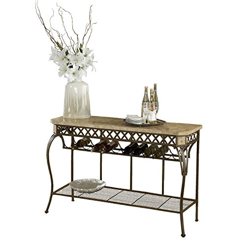 Hillsdale 4815-852 Brookside Fossil Stone Server, Brown Powder Coat Finish (Server Top Stone)