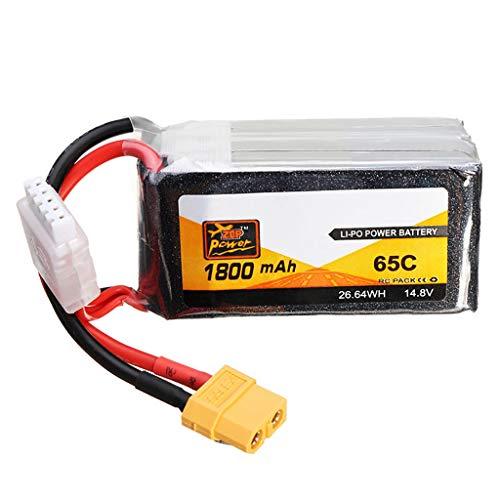 Zhaowei ZOP Power Rechargeable 14.8V 1800mAh 65C 4S Lithium Polymer Battery XT60 Plug (Black)