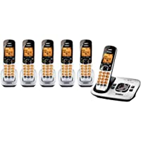 Uniden D1780 Cordless Phone with 5 DCX170 Extra Handsets (Bundle)