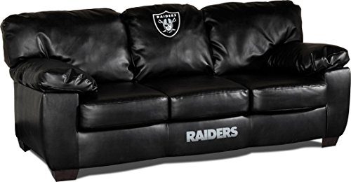Oakland Raiders Silver Leather - 5