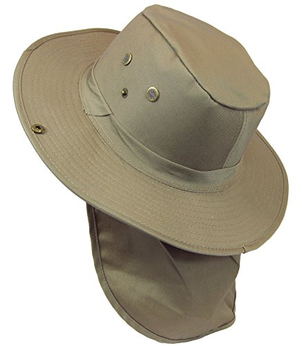 boonie-bush-safari-outdoor-fishing-hiking-hunting-boating-snap-brim-hat-sun-cap-with-neck-flap-khaki