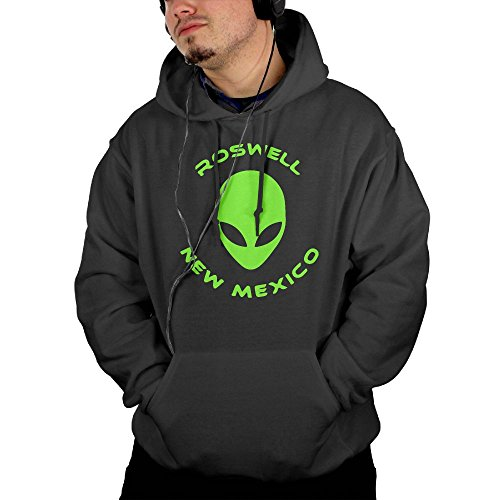 Ijalo Roswell New Mexico Alien Men's Pullover Heavyweight Cotton Pullover Hoodie Sweatshirt Christmas Gift M