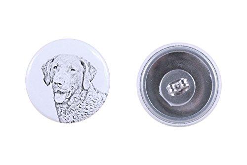 (Chesapeake Bay Retriever, earrings with a dog)