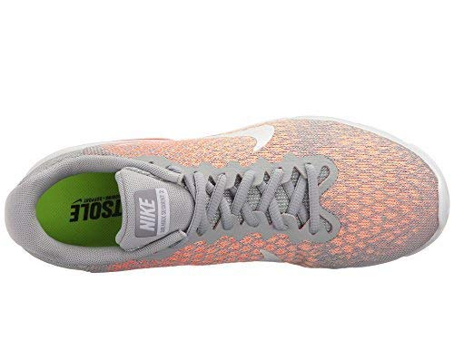 Nike Air Max Sequent 2 Wolf Grey/White/Bright Mango/Sunset Glow Women's Running Shoes 5.5 by Nike (Image #6)