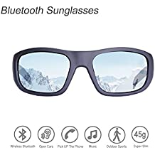 Bluetooth Sunglasses,Open Ear Wireless Sunglasses with Polarized UV400 Protection Safety Lenses,Unisex Design Sport Headset for All Editions of iPhone/Samsung and Smart