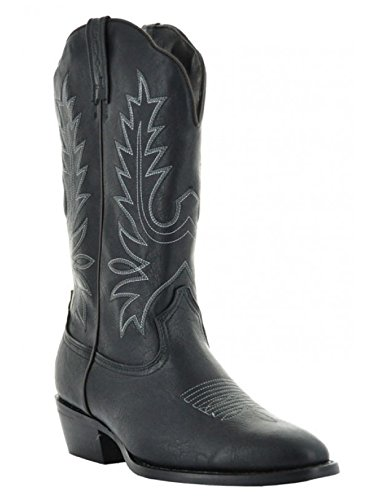 Country Love Boots Round Toe WomenÕs Cowboy Boots W1001-1002 (8.5, Black) ()