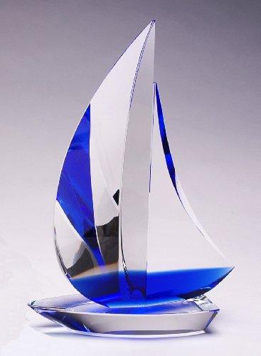 CRYSTAL WORLD Sail Boat - Blue