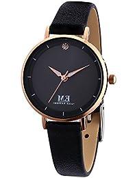 Women Quartz Watches, 30M Waterproof Analog Leather Strap Wrist Watch, Casual Simple Dress Watches