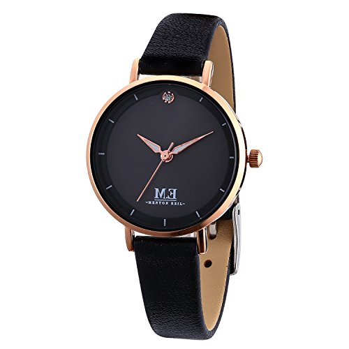 M.E Women Quartz Watches, 30M Waterproof Analog Leather Strap Wrist Watch, Casual...