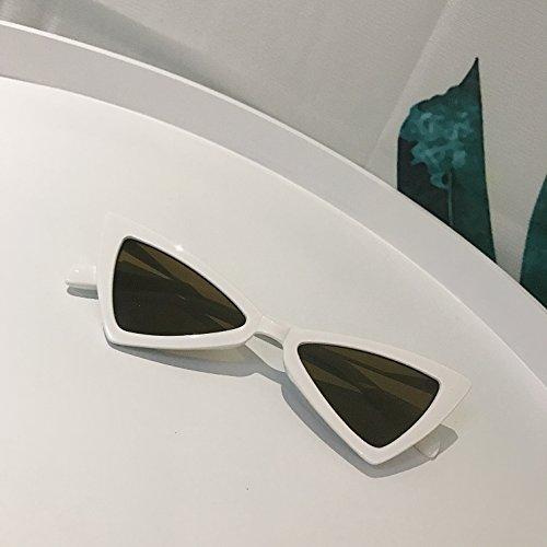 Quadrangular sol de Gafas Mujer white de Gafas Triangle sol VVIIYJ Irregular Beige Glasses qUZWnx66A