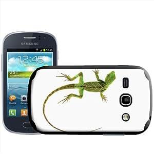 Fancy A Snuggle - Carcasa rígida para Samsung Galaxy Fame S6810, diseño de lagarto sobre fondo blanco