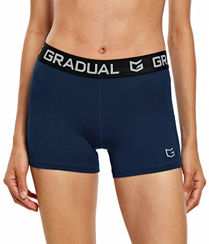 """Women's Spandex Compression Volleyball Shorts 3"""" /7"""" Workout Pro Shorts for Women"""