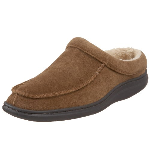 L.B. Evans Men's Edmonton Moc-Toe Slipper,Tan,9 M US (House Sherpa)
