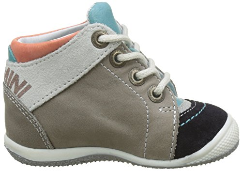 Catimini Pic - Zapatos de primeros pasos Bebé-Niñas Multicolore (VTC GRIS-TURQUOISE DPF/Milk)